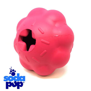 Sodapup Mutts Kick Butt Pink Cupcake Treat Dispenser and Tough Dog Toy