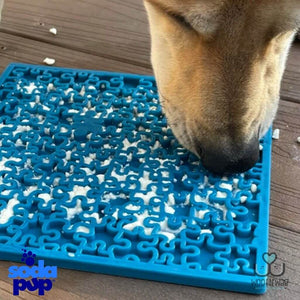 Sodapup Jigsaw EMat Enrichment Licking Mat Blue