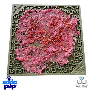 Sodapup Jigsaw EMat Enrichment Licking Mat Green