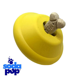 SodaPup Flying Saucer Durable Rubber Chew Toy and Treat Dispenser