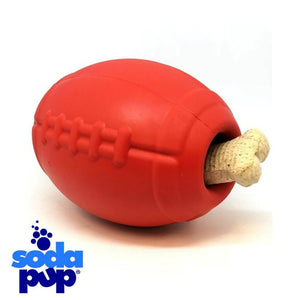 SodaPup Football Tough Dog Toy and Treat Dispenser