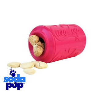 SodaPup Puppy Can Toy Tough Dog Toy and Treat Dispenser for Teething Pups