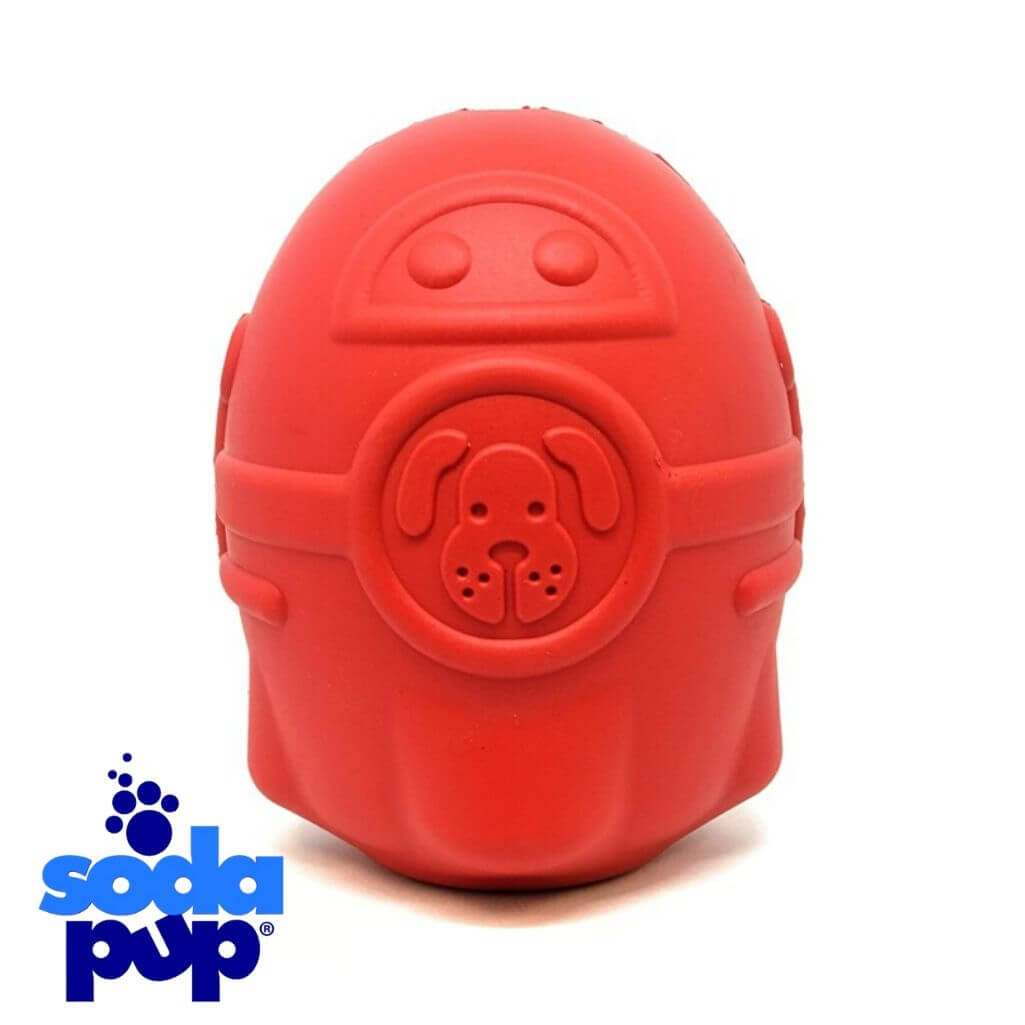 SodaPup Rocketman Tough Dog Toy and Treat Dispenser