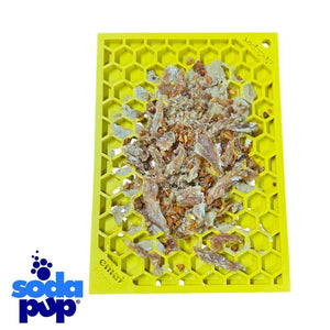 SodaPup Emat Honeycomb Dog Licking Mat with Meal Topper