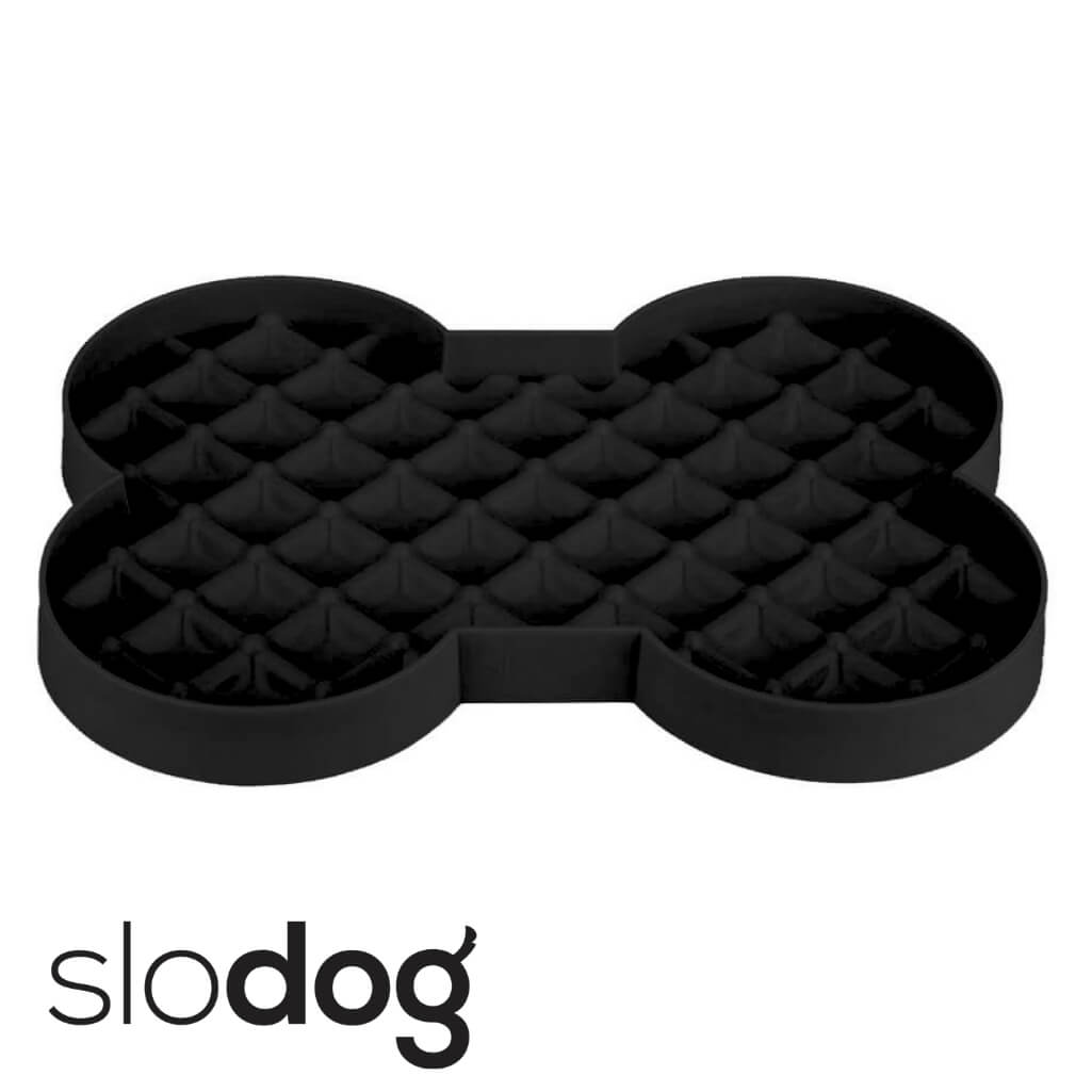 SloDog Slow Feeding Dog Bowl Black