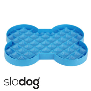 SloDog Slow Feeding Dog Bowl Cyan