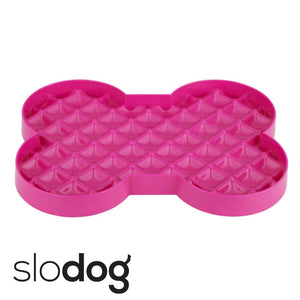 SloDog Slow Feeding Dog Bowl Magenta