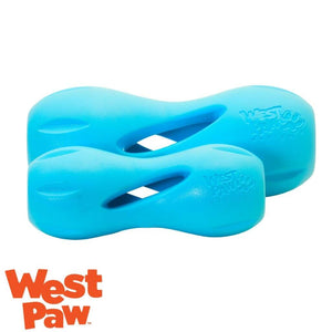 West Paw Qwizzl Tough Treat Dispensing Dog Toy Aqua | West Paw Australia