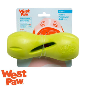 West Paw Qwizzl Tough Treat Dispensing Dog Toy Green | West Paw Australia