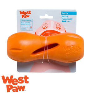 West Paw Qwizzl Tough Treat Dispensing Dog Toy Orange | West Paw Australia