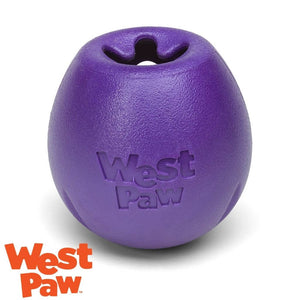 West Paw Rumbl Australia Eggplant - Treat Dispensing Dog Toy