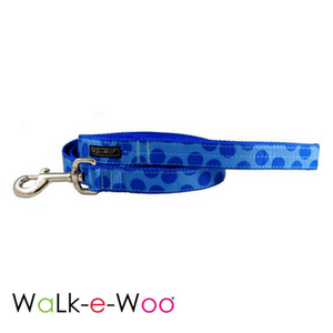 Walk-e-Woo Dog Leash Blue on Blue