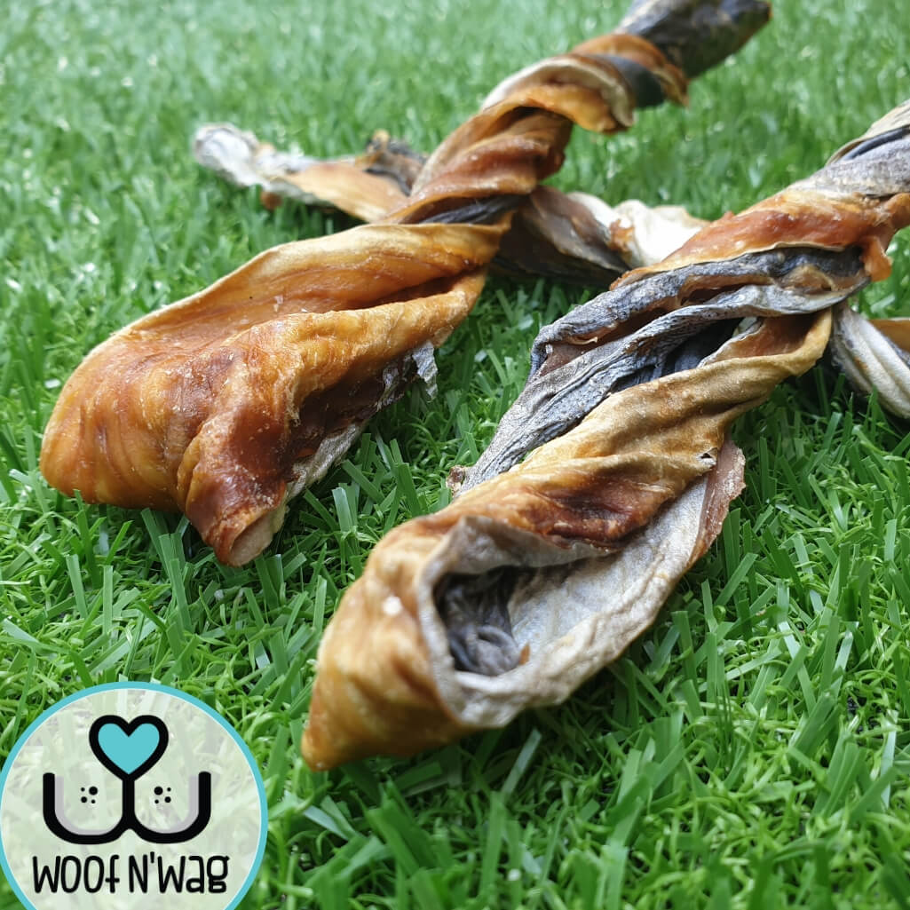 Mackerel Skin Twist Natural Dog Treat