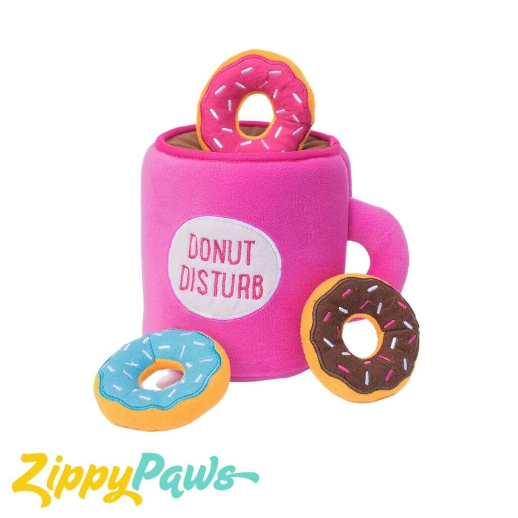 Zippy Paws Burrow Interactive Dog Toy - Coffee and Donutz Zippy Paws Australia