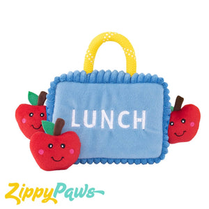 Zippy Paws Burrow Interactive Dog Toy - Lunchbox with 3 Apples