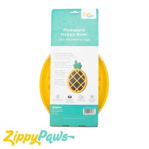 Zippy Paws Happy Bowl Pineapple Slow Feeder Bowl
