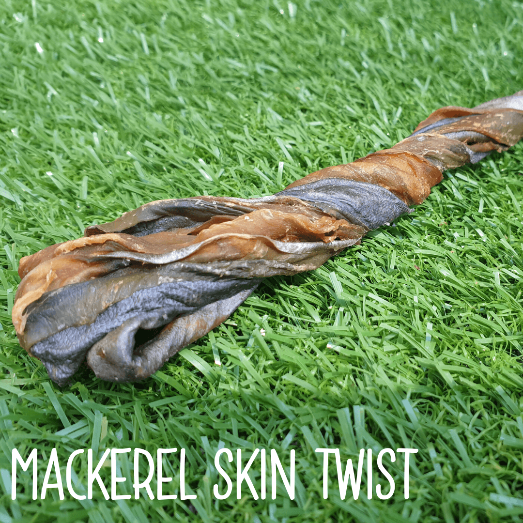 Natural Dog Treats - Mackerel Skin Twist