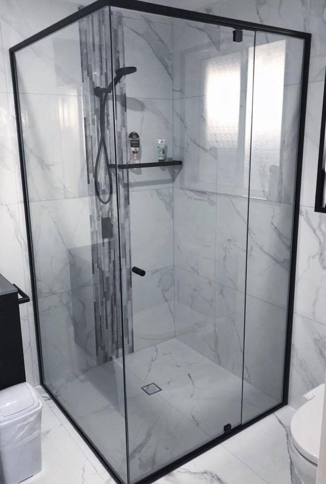 Premium Semi Frameless Shower Screen Gold Coast Shower