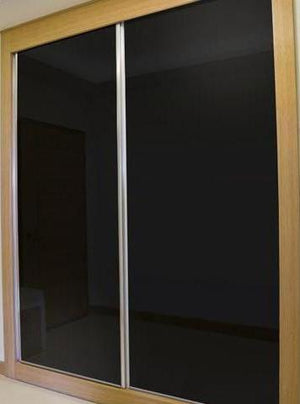 Black Glass Wardrobe Doors