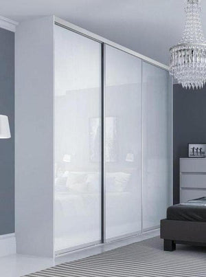 White Glass Wardrobe Doors