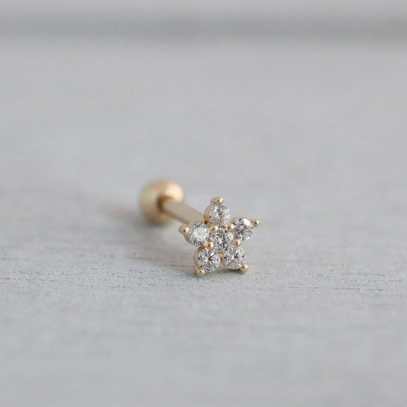 CZ Flower Cartilage Stud Earring