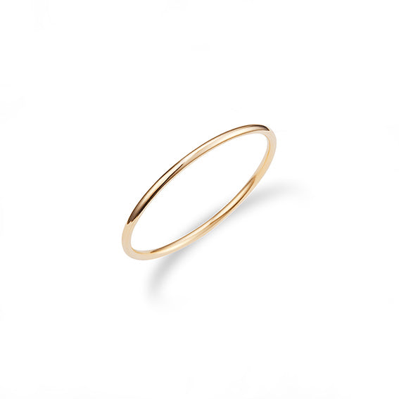 basic skinny stacking ring made with 14k gold