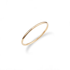 Basic Thin Round Band Ring in Sterling Silver