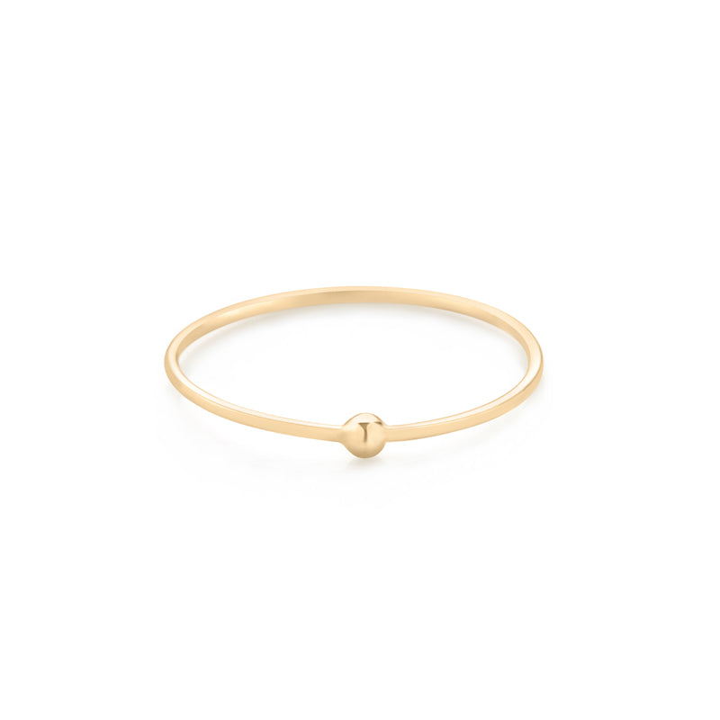 14k gold thin ball ring