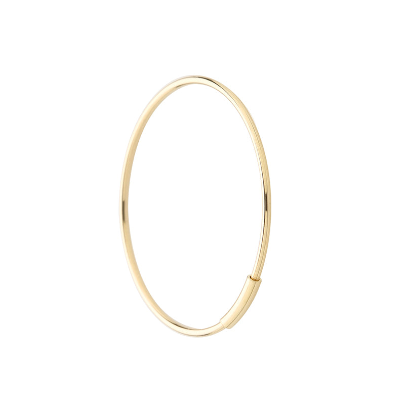 Thin Endless Hoop Earring Made in 14K Gold