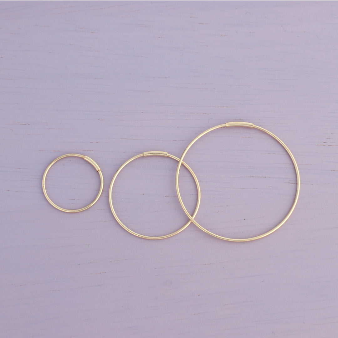 4bbf1a07ee75a Thin Endless Hoop Earring- 14K Gold