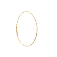 14k gold large and thin endless hoop