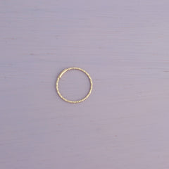 Thin Faceted Endless Hoop- 14K Gold