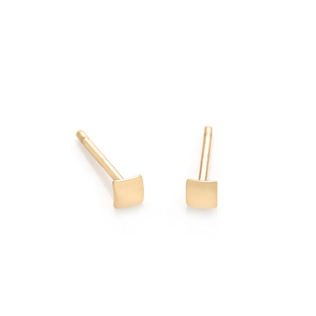 934809aa7 14K Gold Tiny Square Stud Earring | Serendipity in Seoul