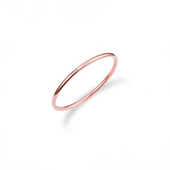 Skinny stacking ring in 14k rose gold