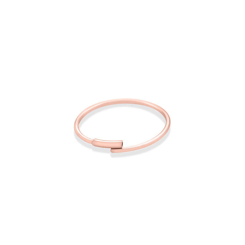 14k rose gold thin endless hoop