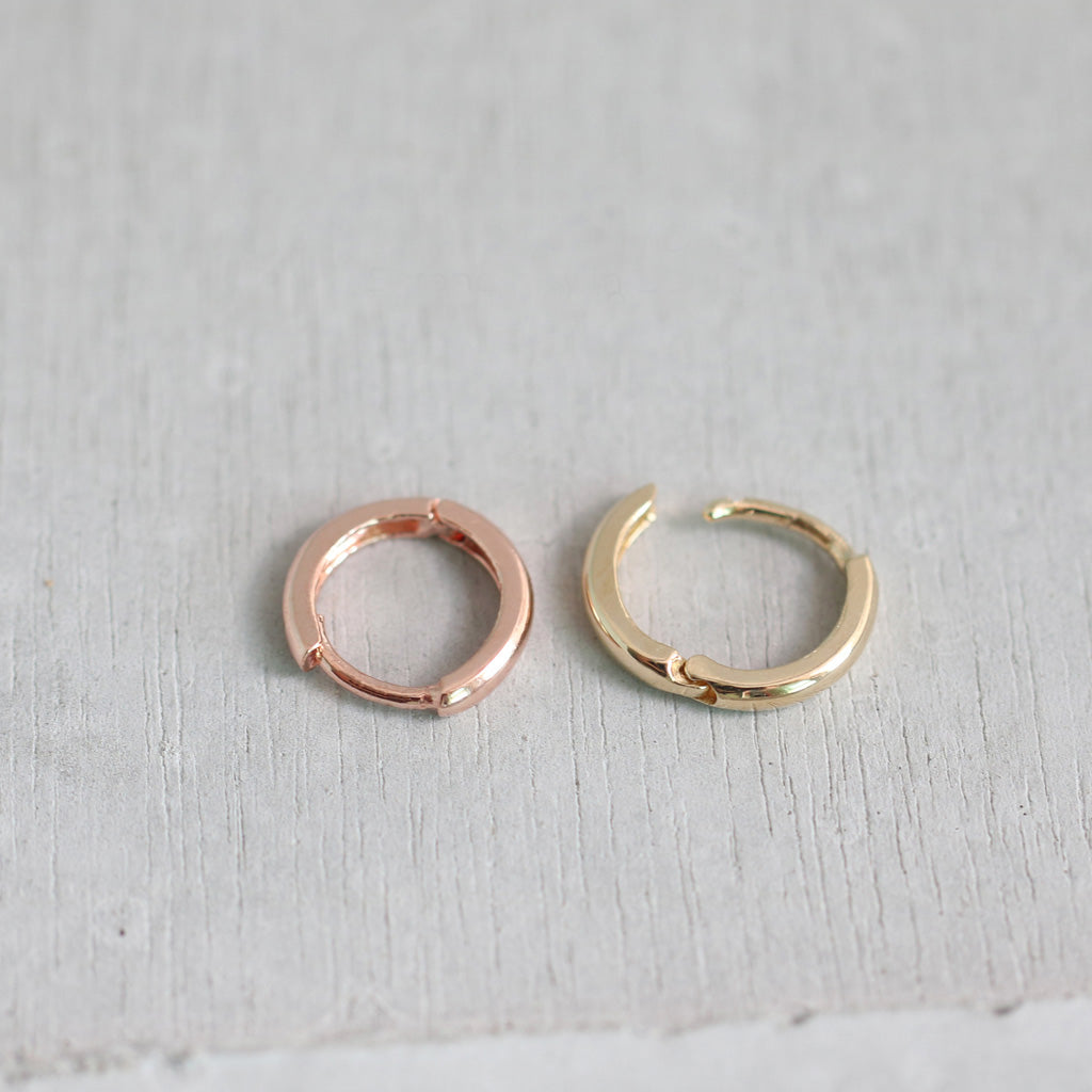 14K Gold Small Cartilage Hoop Earring