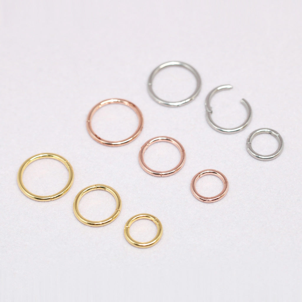 16g Hinged Segment Ring- 316L Surgical Steel