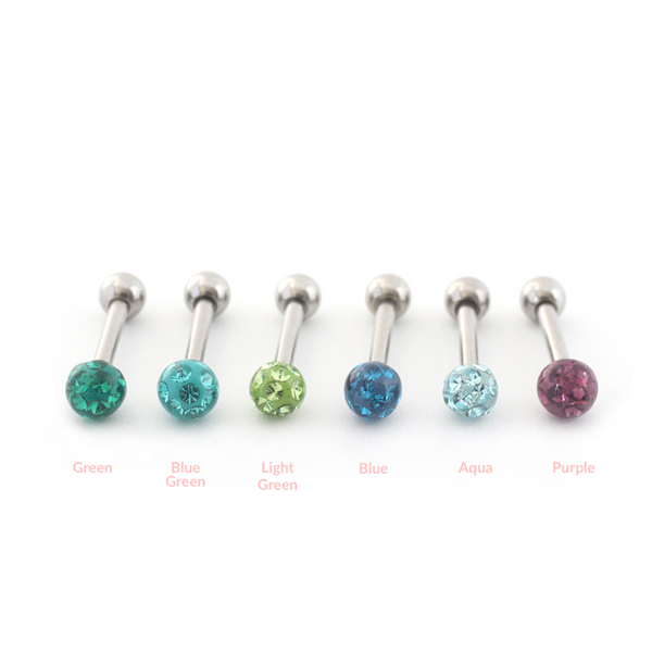 3mm Colorful Ball Piercing