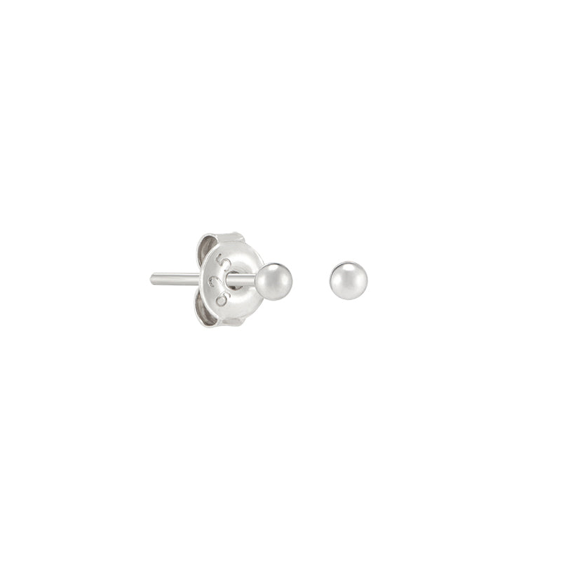 Tiny 2mm Ball Studs- Sterling Silver