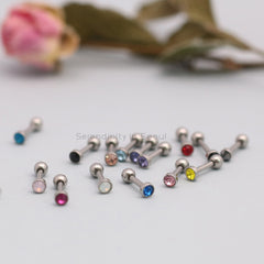 316L Colorful CZ Tiny Barbell