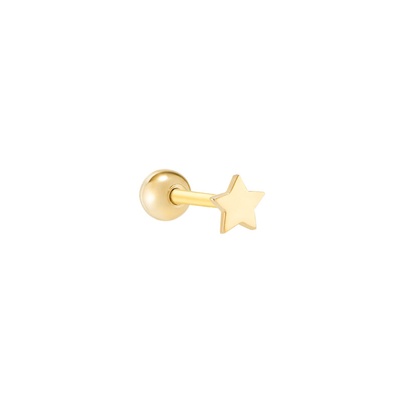 3mm Tiny Star Piercing- 14K Gold