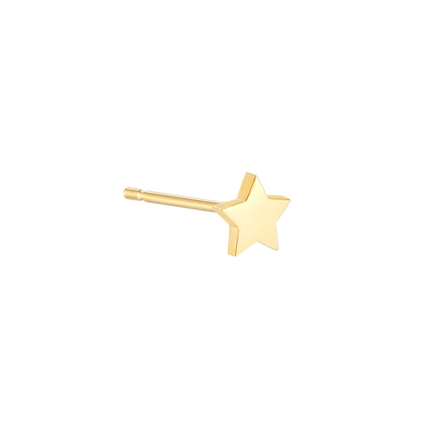 4mm Tiny Star Stud- 14K Gold