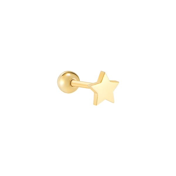 4mm Tiny Star Piercing- 14K Gold