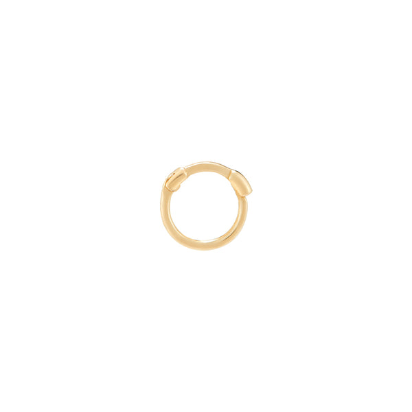 5mm Thin Cartilage Huggie- 10K Gold