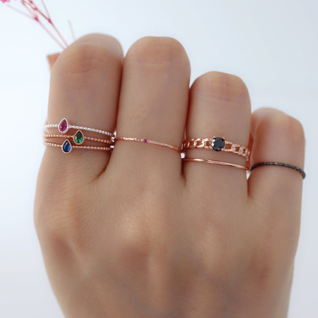 925 silver dainty stacking rings