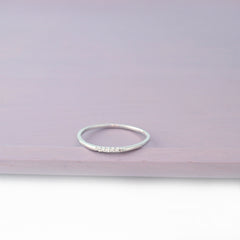 Dainty CZ Line Ring Made From Sterling Silver