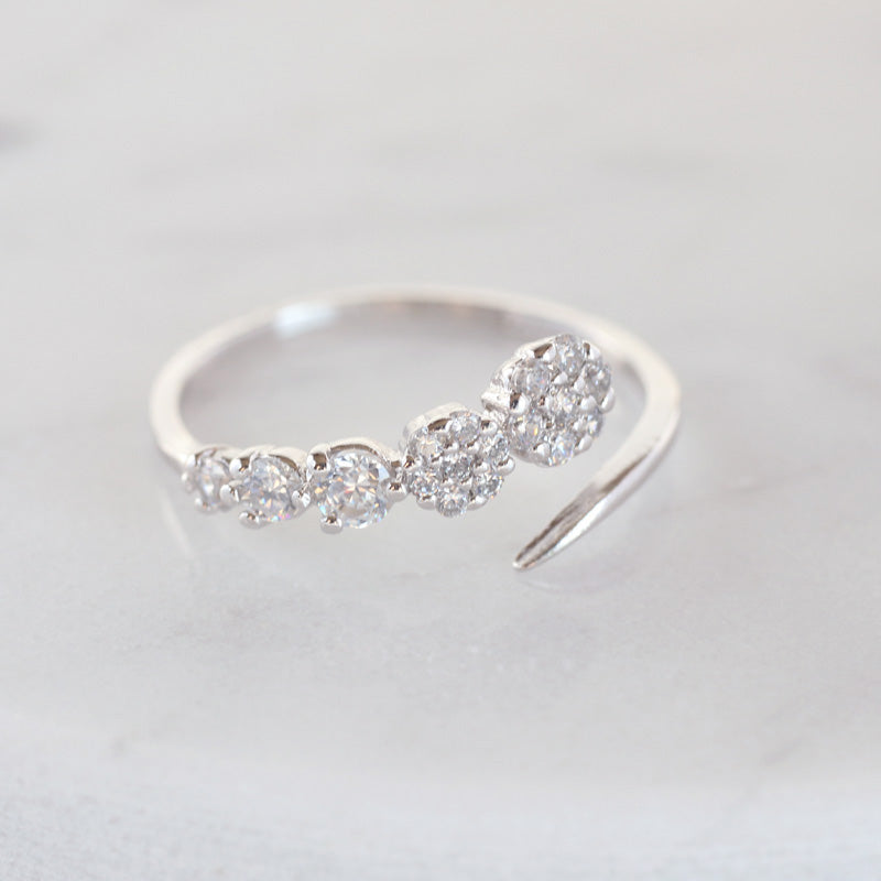 Spiral Open Ring- Sterling Silver