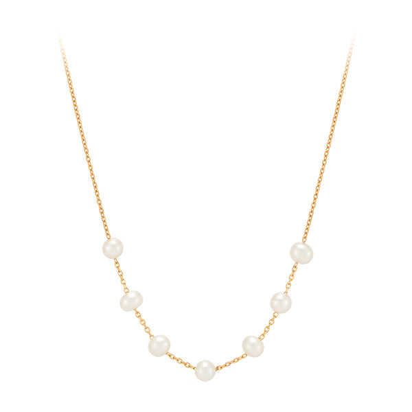 Freshwater Pearl Necklace- Sterling Silver