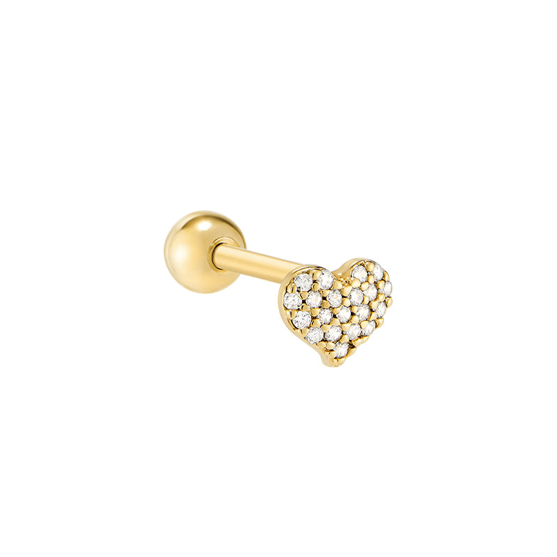 Heart Cartilage Piercing- Sterling Silver