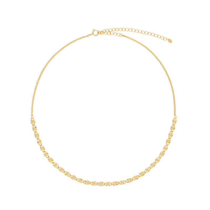 Highlight Chain Choker- Sterling Silver